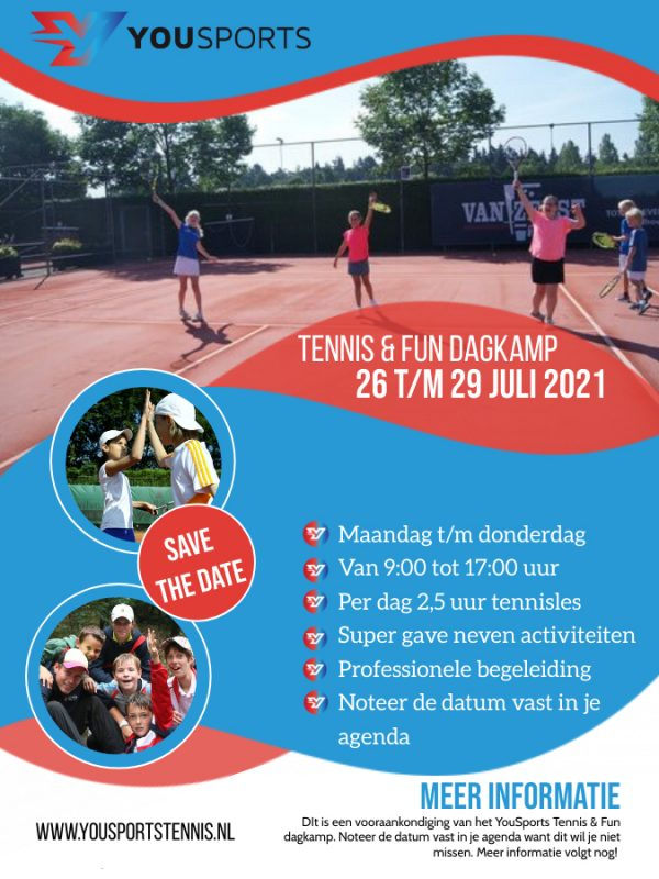 Tennis & Fun dagkamp